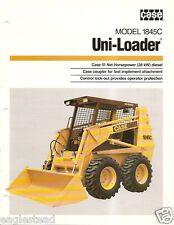 Equipment Brochure - Case - 1845C - Uni-Loader - c1987 (E1727)