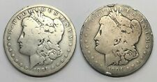 1891-O and 1904-P Morgan Dollar 1$ Silver Coins - Lot Of 2 Coins (M102)