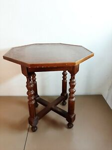 Vintage Round Pedestal Tea Coffee Occasional Side Table Plant Stand  H=49/W=46cm
