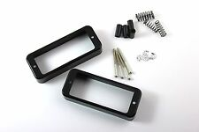 Deluxe Mini Humbucker to P90 Soapbar Mounting Adapter Rings Set Black w/ screws