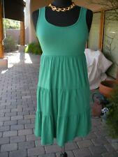 SEXY~! NWT $155 SPLENDID Emerald Green Tunic STRETCHY Tiered Mini Dress   L