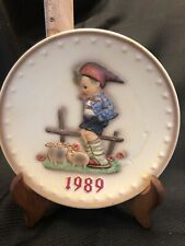 Hummel Plate 1989 ( Stand Not Included ) In original Box