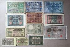 Sammlungsauflösung Posten 12 alte Geldscheine Deutsches Reich -Inflation.... (4)