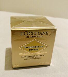 L'Occitane Immortelle Divine Eye Balm eye cream NEW SEALED RRP £59