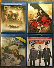 New ListingBlu-Ray Lot - 4 Movies, The Lord Of The Rings, 300, Clash Of The Titans.