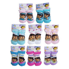 6 PAIR Dora Baby Infant Toddler Booties Socks Girls Ages 6-12 months NEW