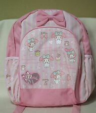 My Melody School Bag For children Backpack Pink Sanrio 2014 NWT Rare