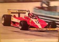 Gilles Villeneuve/Ferrari 312T-3 Long Beach GP 1978 Original Rare! Car Poster