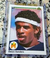 DEION SANDERS 1990 Upper Deck #1 Draft Pick STAR Rookie Card RC Yankees $ HOF $