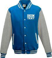 Varsity College Jacke mit Wunschdruck viele Farben Partnerlook Jacken S6904164e