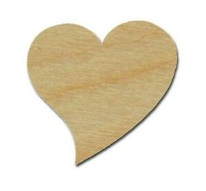Heart Shape Unfinished Wood Craft Cutouts Wooden Tags Variety of Sizes