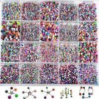 Wholesale 105x Lots Mixed Lip Piercing Body Jewelry Barbell Rings Tongue Ring UK