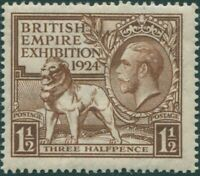Great Britain 1924 SG431 1½d brown KGV Exhibition MNH