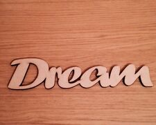 Dream Wooden Script Words Laser Cut Mdf Decorative Letters Wall Door Plaque  Sign