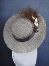 "Brown Sailor hat for doll, BLEUETTE size 7/8"" Head circumf- (CAB150) - G.BRAVOT"