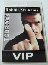 Robbie Williams Laminated VIP Pass - 2006 TOUR (Backstage/Aftershow/Crew)