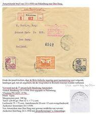 NED INDIE  1930-1-13  CV PALEMBANG -DEN HAAG   LP#10  M= KW €150  LEES!!FINE