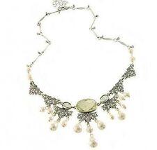 Vintage Nouveau Deco novia perlas gargantilla colgante de tendencia