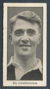 D C THOMSON-WORLD CUP FOOTBALLERS-1958-#04-LEICESTER/N IRELAND-BILL CUNNINGHAM