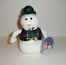"""New 8"""" SAM the SNOWMAN Plush Doll Rudolph the Red Nosed Reindeer Christmas"""