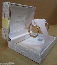 14K Rose Gold & Sterling Silver Circle Loop Earrings Set With Swarovski Elements