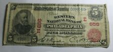 1902 Red Seal National Note Western National Bank of Philadelphia PA  E 656
