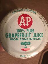 Grapefruit Juice bottle A&P Supermarket Vintage Great Atlantic & Pacific Tea Co