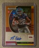 2020 Prizm Draft Picks SCOTTIE PHILLIPS Auto Neon Orange /149 Ole Miss TEXANS