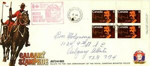 Calgary Stampede 1973 #10 cover Stampede cachet & PO cancel, RCMP musical ride