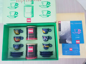 illy Collection Espresso Cups Tazzine D'autore 1994 Luca Trazzi Rare Vintage HTF