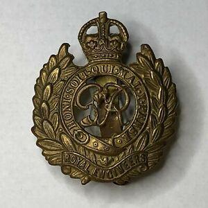 WW2 Royal Engineers Cap Badge George Vi Kings Crown Genuine Badge
