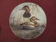 Rare collector plate James Meger Canvasback Ducks Signed Waterbird Leslie Paper
