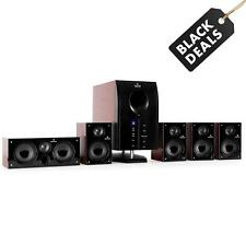 5.1 Surround Sound Active Speakers System Home Cinema Subwoofer Remote LED Hifi
