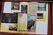 23670 Reise Prospekt Bad Harzburg 1955 mittig mit Landkarte