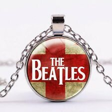 The Beatles Vintage Cabochon Glass Pendant Necklace Liverpool UK SELLER