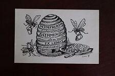 ✒ EX LIBRIS M P M Frijling  - ruche abeilles