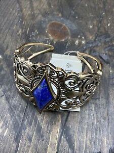 Barse Princess Cuff Bracelet- Lapis & Bronze- NWT
