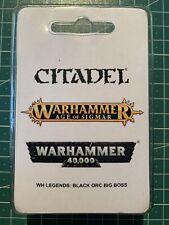 Warhammer Orcs Orks Goblins Black Orc Big Boss Schwarzork Oberboss New Neu Resin