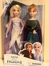 Disney Store FROZEN 2 Queen Anna & Elsa the Snow Queen Doll Set (NIB)