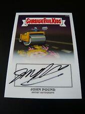 GPK Chrome 1 John Pound Autograph 31b Flat Pat OS1 Garbage Pail Kids 2013