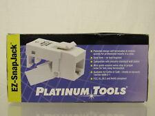 Platinum Tools EZ-SnapJack Cat6, Green. 40 pc / Installer Pack.