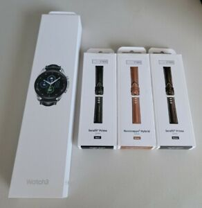 Samsung Galaxy Watch 3 45MM, GPS, Bluetooth LTE Unlocked Silver - 3 extra bands