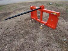 "Kubota Kioti Tractor Loader 48"" Hay Bale Spear Fork Attachment - Ship $179"