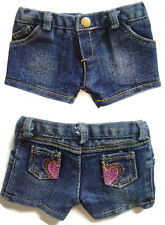 "Doll Clothes fits 18"" American Girl Trendy Heart Pocket Denim Shorts Accessories"