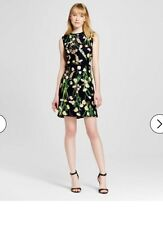Victoria Beckham For Target Black English Floral Dress XS