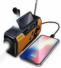 Emergency Solar Hand Crank Portable Radio Flashlight Usb Charge 2000mAh Sos