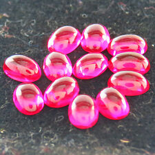 8.15ct LAB CREATED PIGEON BLOOD RED RUBY OVAL CAB 12PCS 4 x 6 rouge rubis ovale