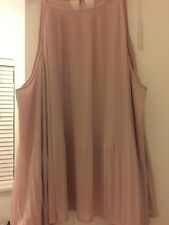 New Look Dusky Pink Cold Shoulder Top Size 12