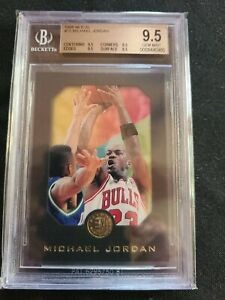 1995 Skybox E-XL Basketball #10 Michael Jordan BGS 9.5 ×4 Gem Mint HOF Champion