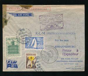FLIGHT 1949 KLM HOLLAND SOUTH AFRICA + RETURN...FAULTS